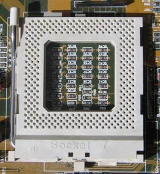 Zócalo de CPU que emplea ZIF