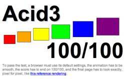 Imagen del test Acid3