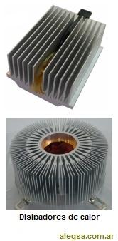 Imagen de dos disipadores de calor