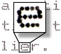 Ampliación de la impresión de una impresora matricial