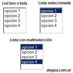 Varias imagenes de Listbox