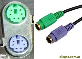 Imagen de un conector PS/2