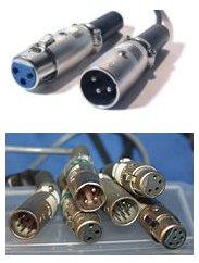 Imagen del conector eléctrico XLR