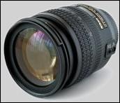 Fotografía de un lente de zoom de una cámara fotográfica