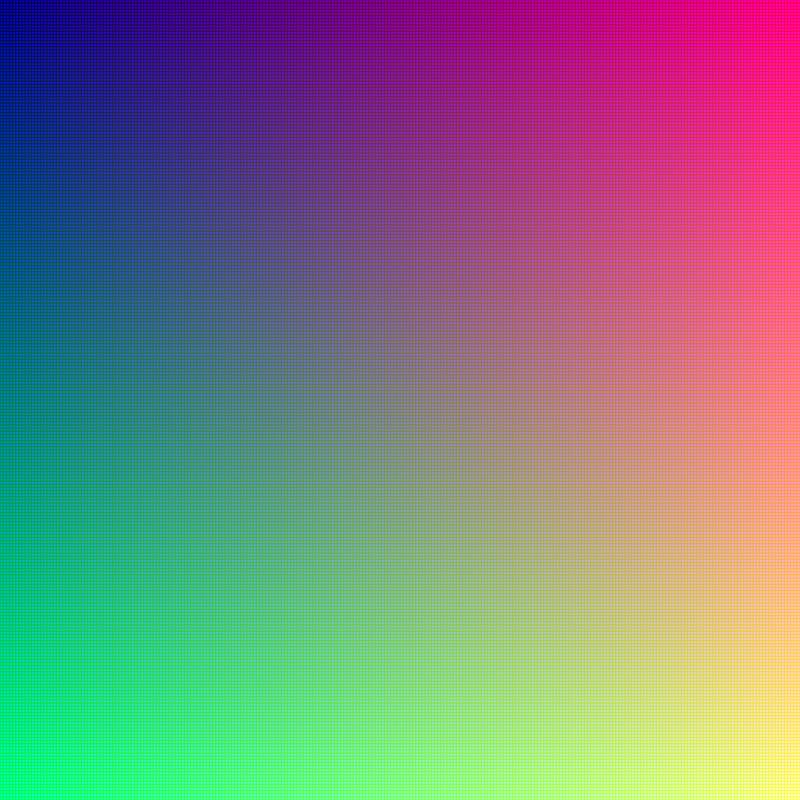16.777.216 colores (True Color o Color Verdadero)