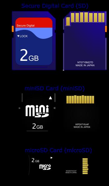Tarjetas de memoria SD: Secure Digital