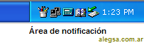 Área de notificaciones