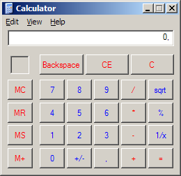 Calculadora clásica de Windows