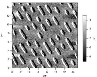 Imagen real de un disco óptico (CD-ROM) bajo un microscopio