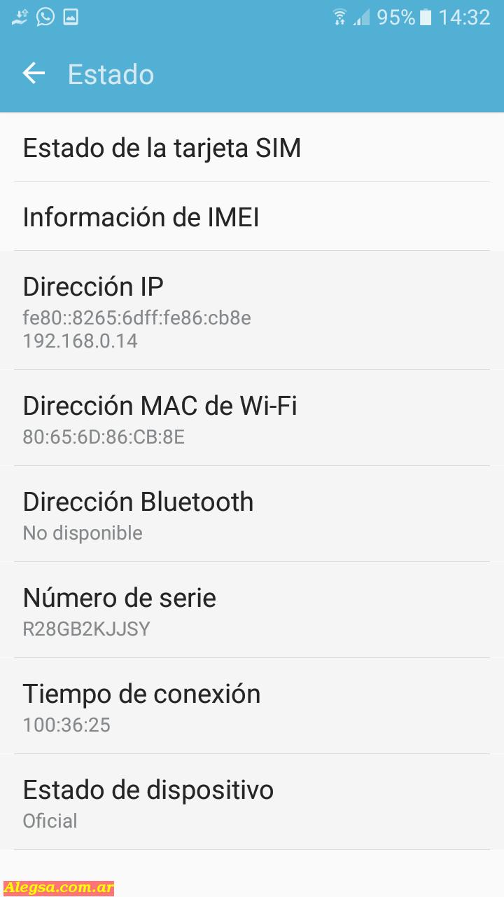 Dirección MAC del teléfono en Android