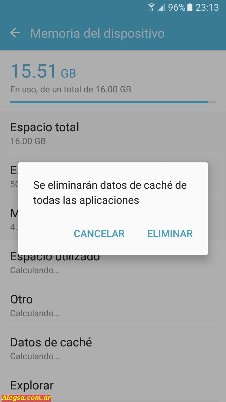 Eliminar el caché de las aplicaciones en Android no elimina nuestros archivos personales.