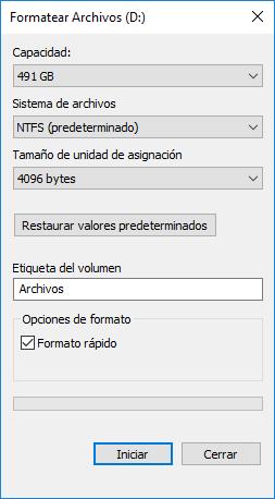 Formatear una unidad en Windows: ir al Explorador de Windows, clic derecho sobre la unidad a formatear y elegir la opción Formatear