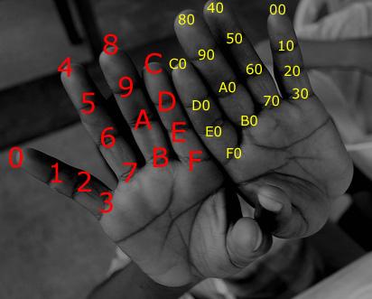 Sistema para contar en hexadecimal