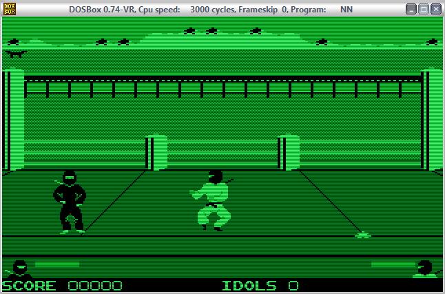 juego monocromático verde