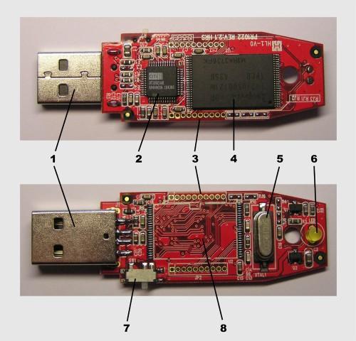 Componentes de una memoria USB