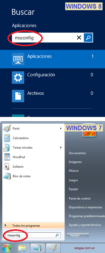 Ingresar a MSCONFIG en Windows