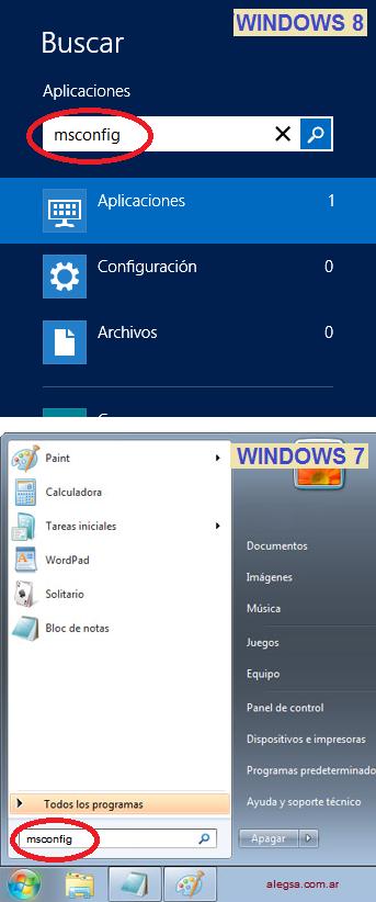 Ingresar a MSCONFIG en Windows