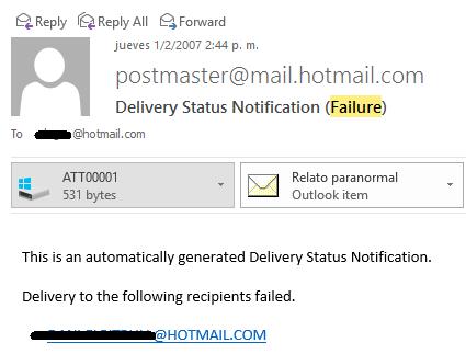 Error postmaster típico