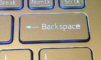 Tecla backspace en un teclado de computadora