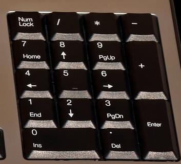 Teclado numérico: Num Lock