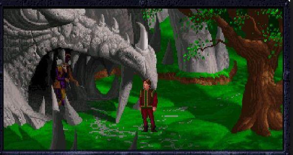 Kyrandia: antiguo videojuego de aventura para PC en tercera persona.