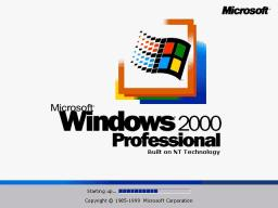 Logo inicial de Windows 2000