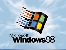 Pantalla de inicio de Windows 98