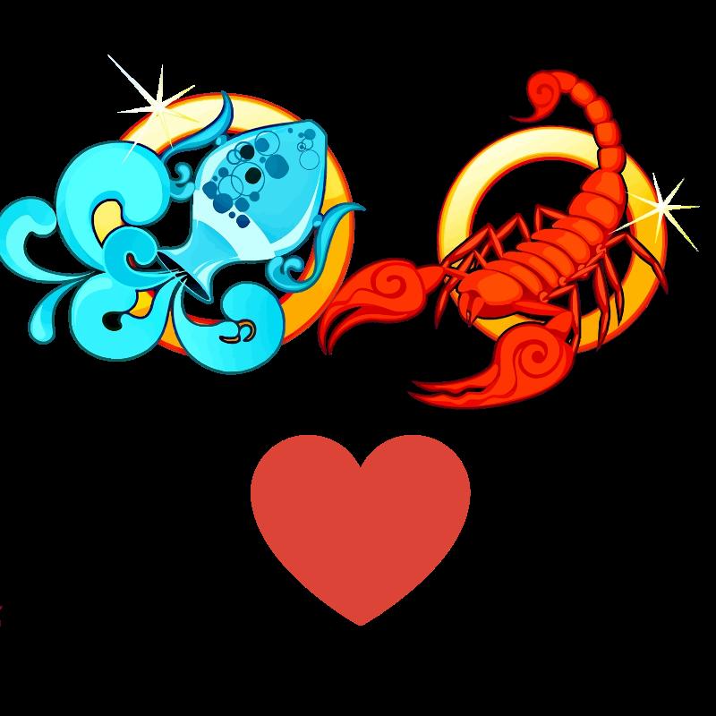 Compatibilidad de amor: Mujer Acuario y Hombre Escorpio