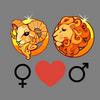 Любовь    совместимость Овен женщина и Лео мужчина