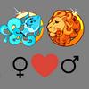 Любовь    совместимость Водолей женщина и Лео мужчина