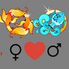 Compatibilidade    amorosa da mulher Pisces e do homem Aquarius