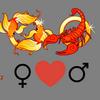 Liebeskompatibilität    Fische-Frau und Skorpion-Mann