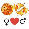 Liefdescompatibiliteit    van Leo vrouw en Vissen man