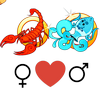 Совместимость    любви женщины Скорпиона и человека Водолея